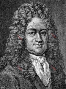 Porträt von Gottfried Wilhelm Leibniz | Porträt of Gottfried Wilhelm Leibniz (foticon-portrait-0066-sw.jpg)