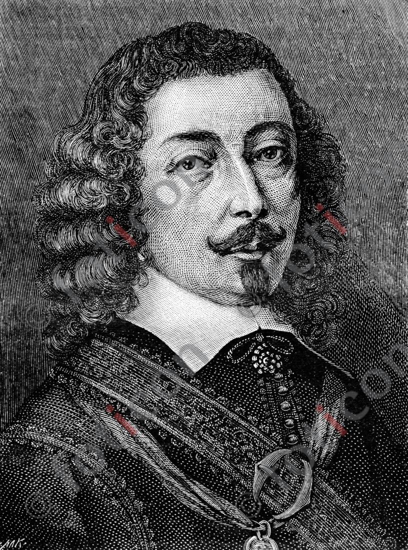 Portrait von Johann Michael Moscherosch | Portrait of Johann Michael Moscherosch - Foto foticon-portrait-0057-sw.jpg | foticon.de - Bilddatenbank für Motive aus Geschichte und Kultur