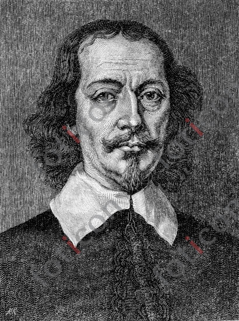Portrait von Otto von Guericke   Portrait of Otto von Guericke - Foto foticon-portrait-0058-sw.jpg   foticon.de - Bilddatenbank für Motive aus Geschichte und Kultur