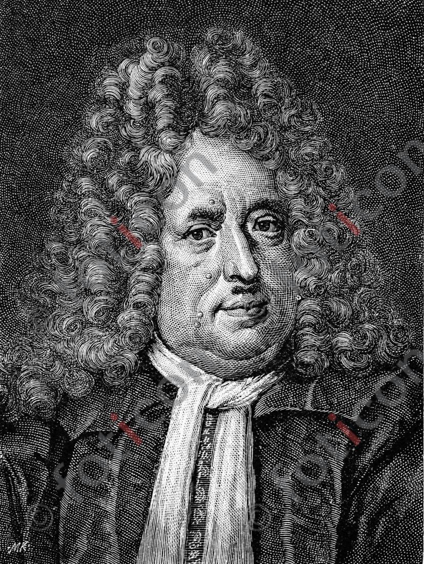 Porträt von Christian Thomasius | Porträt of Christian Thomasius - Foto foticon-portrait-0067-sw.jpg | foticon.de - Bilddatenbank für Motive aus Geschichte und Kultur