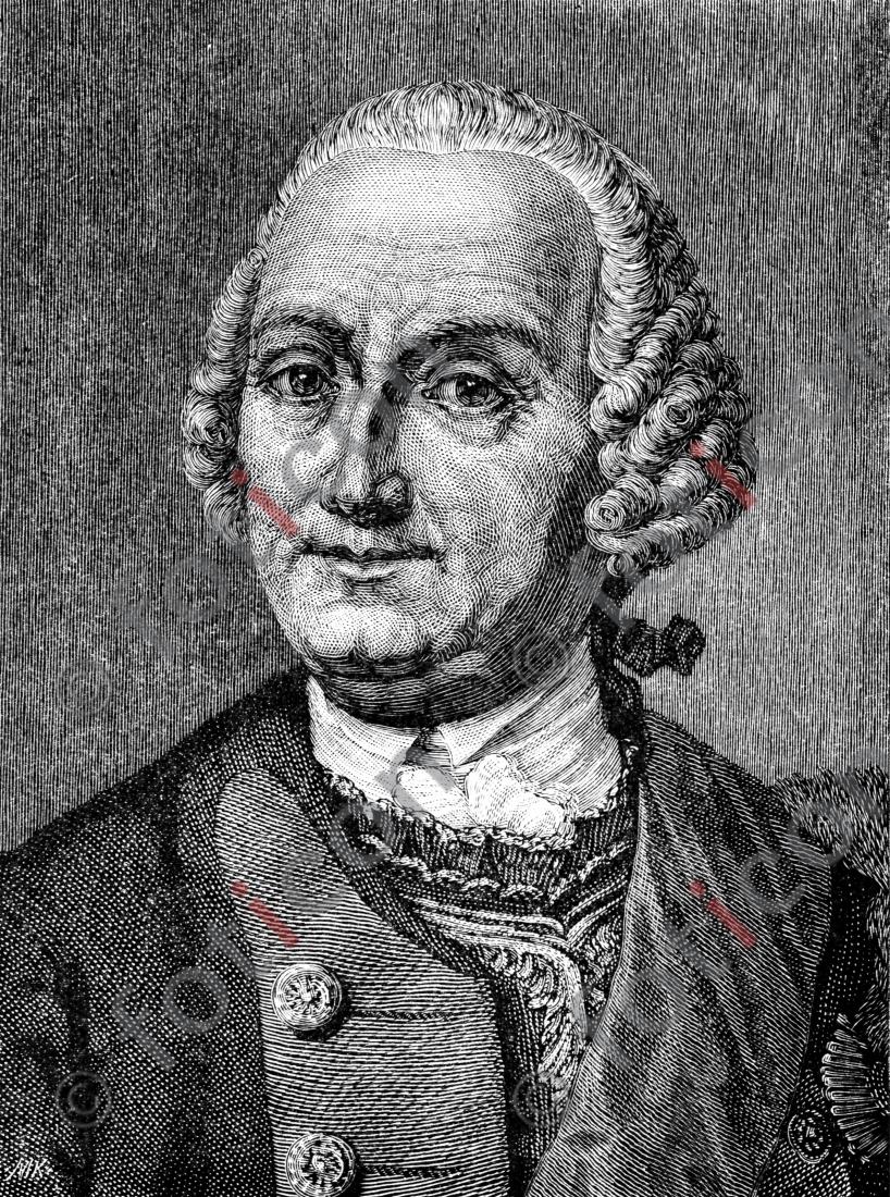 Portrait von Kurt Christoph von Schwerin | Portrait von Kurt Christoph von Schwerin - Foto foticon-portrait-0074-sw.jpg | foticon.de - Bilddatenbank für Motive aus Geschichte und Kultur
