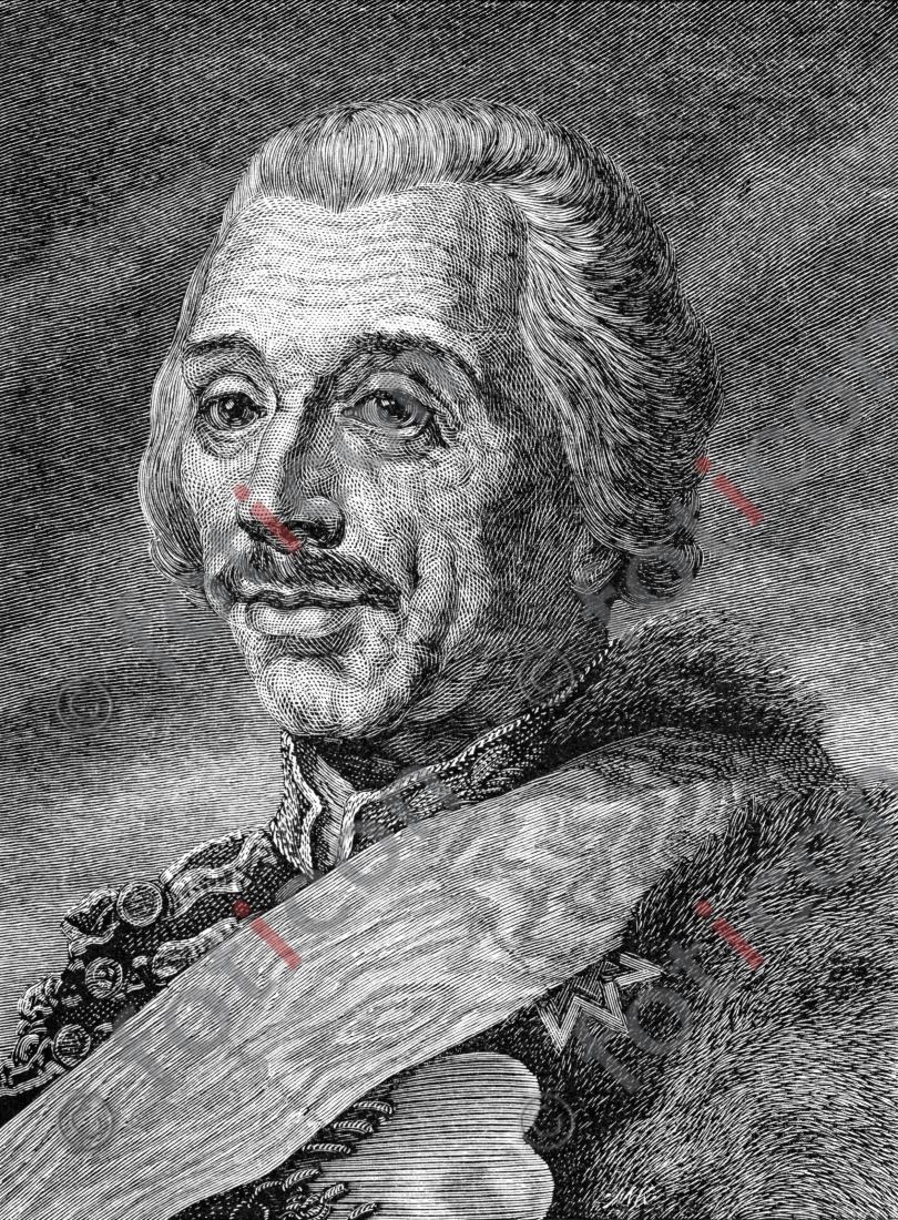 Portrait von Hans Joachim von Zieten   Portrait of Hans Joachim von Zieten - Foto foticon-portrait-0078-sw.jpg   foticon.de - Bilddatenbank für Motive aus Geschichte und Kultur