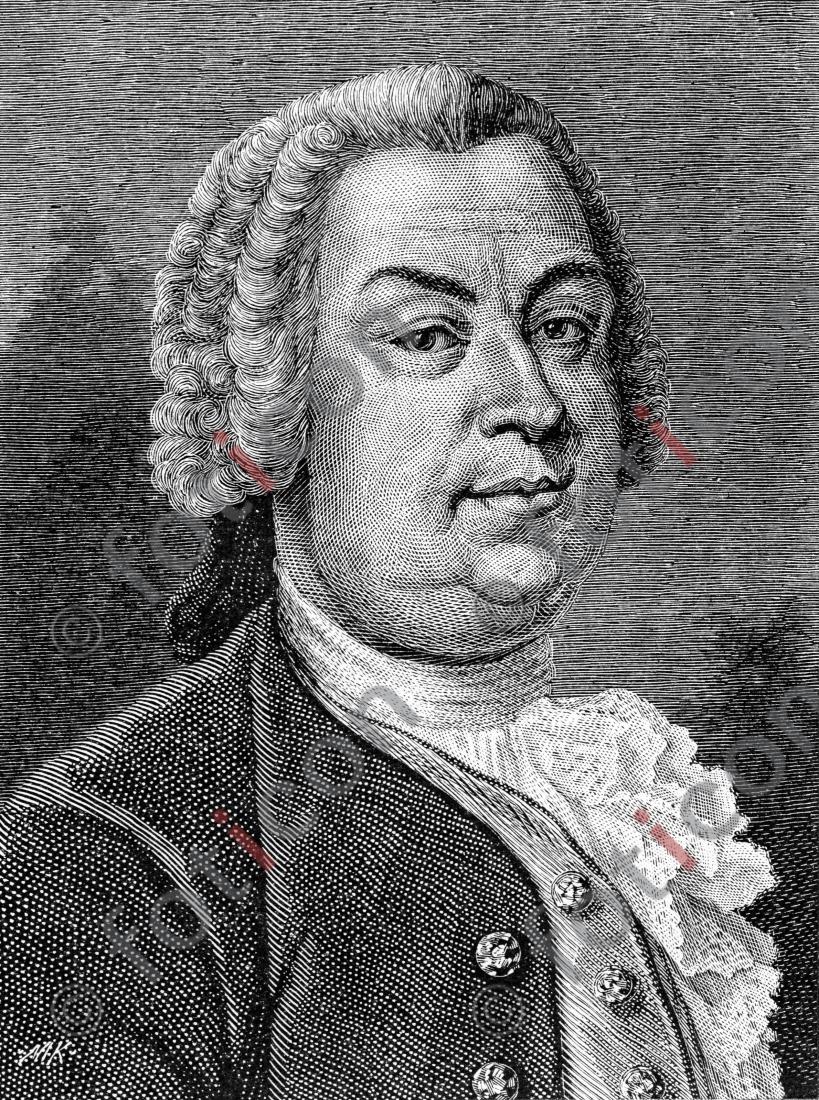 Portrait von Johann Christoph Gottsched | Portrait of Johann Christoph Gottsched  - Foto foticon-portrait-0079-sw.jpg | foticon.de - Bilddatenbank für Motive aus Geschichte und Kultur