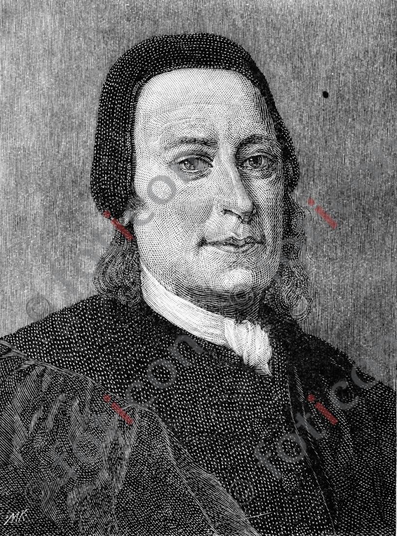 Portrait von Nikolaus Ludwig von Zinzendorf und Pottendorf | Portrait of Nikolaus Ludwig von Zinzendorf und Pottendorf - Foto foticon-portrait-0080-sw.jpg | foticon.de - Bilddatenbank für Motive aus Geschichte und Kultur
