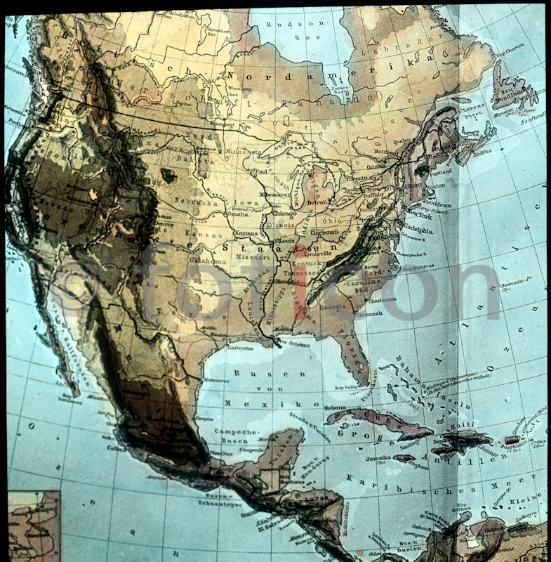 Landkarte der USA ; Map of the USA - Foto foticon-simon-amerika-380 ...